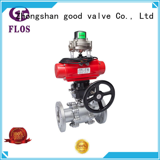 FLOS durable three piece ball valve supplier for closing piping flow