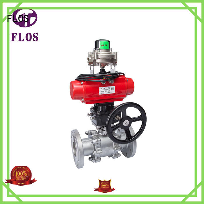 FLOS pneumaticworm 3-piece ball valve manufacturer for directing flow