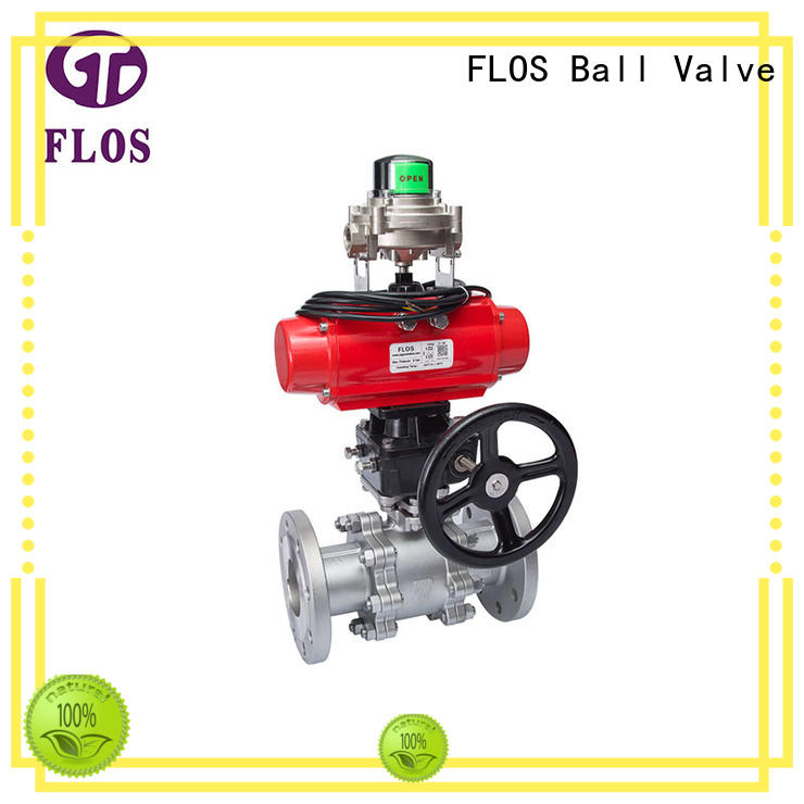FLOS professional three piece ball valve manufacturer for opening piping flow