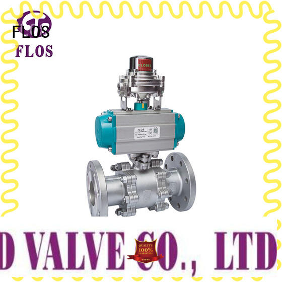 FLOS switch 3 piece stainless ball valve manufacturer for closing piping flow