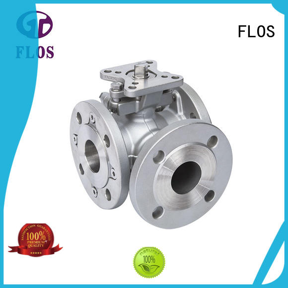 FLOS professional flanged end ball valve wholesale for opening piping flow