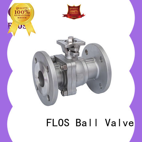 FLOS professional two piece ball valve wholesale for opening piping flow