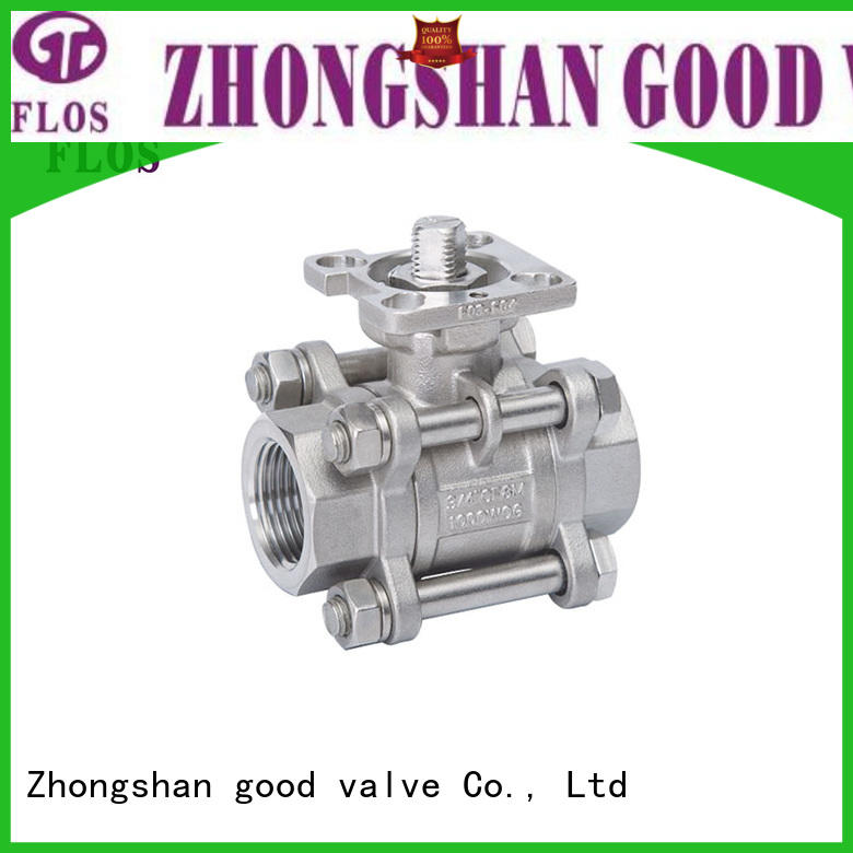 FLOS high quality 3-piece ball valve wholesale for closing piping flow