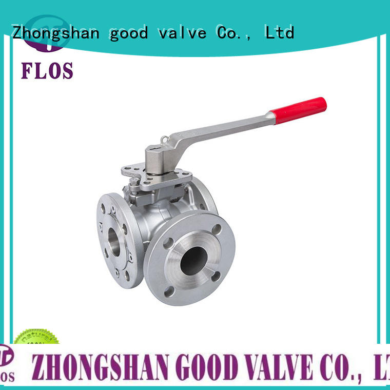 FLOS carbon 3 way flanged ball valve wholesale for opening piping flow