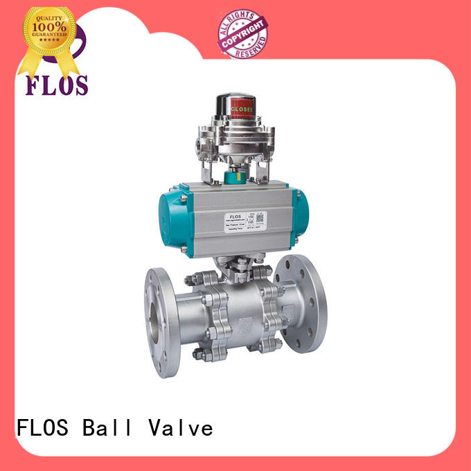 FLOS position 3 piece stainless ball valve manufacturer for directing flow