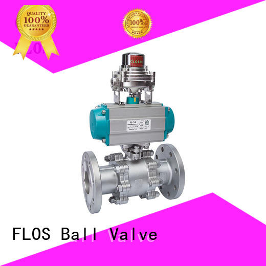 FLOS pneumaticworm 3 piece stainless ball valve Supply for closing piping flow