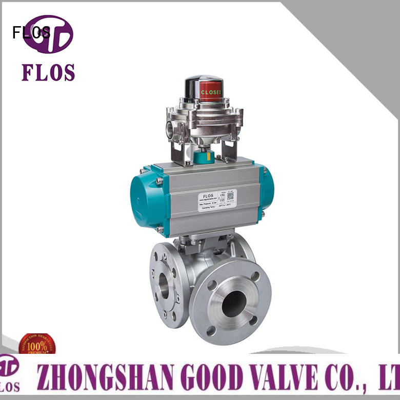 FLOS switchflanged flanged end ball valve wholesale for closing piping flow