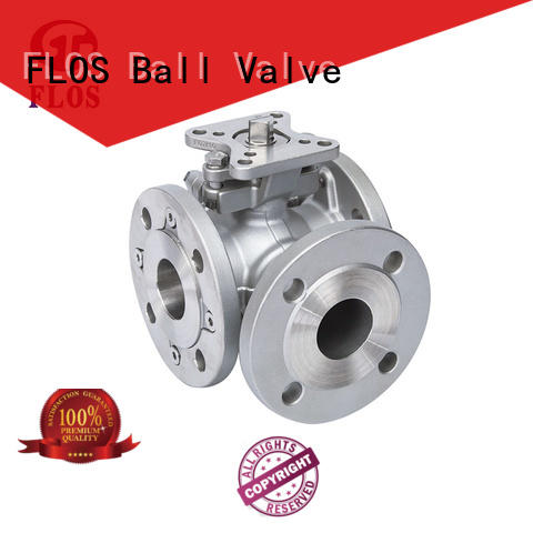 FLOS steel 3 way valves ball valves wholesale for opening piping flow