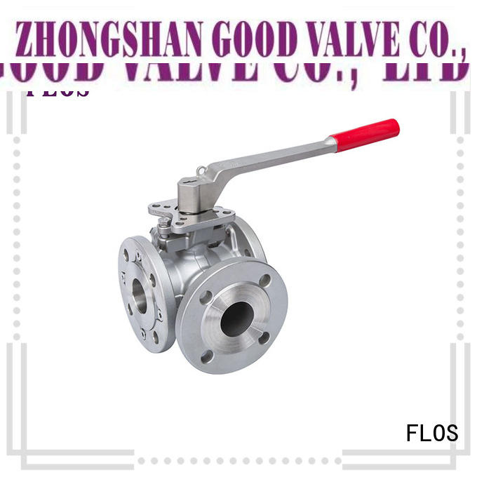 FLOS flanged three way ball valve factory for directing flow