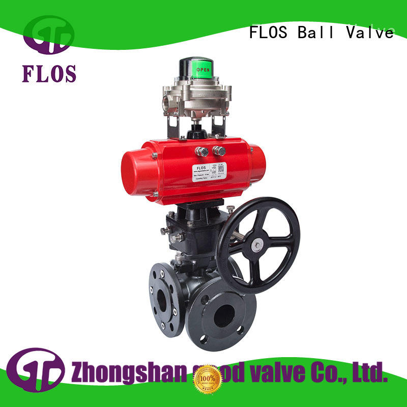 way 3 way flanged ball valve manufacturer for opening piping flow