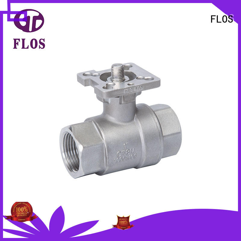 FLOS experienced two piece ball valve supplier for closing piping flow