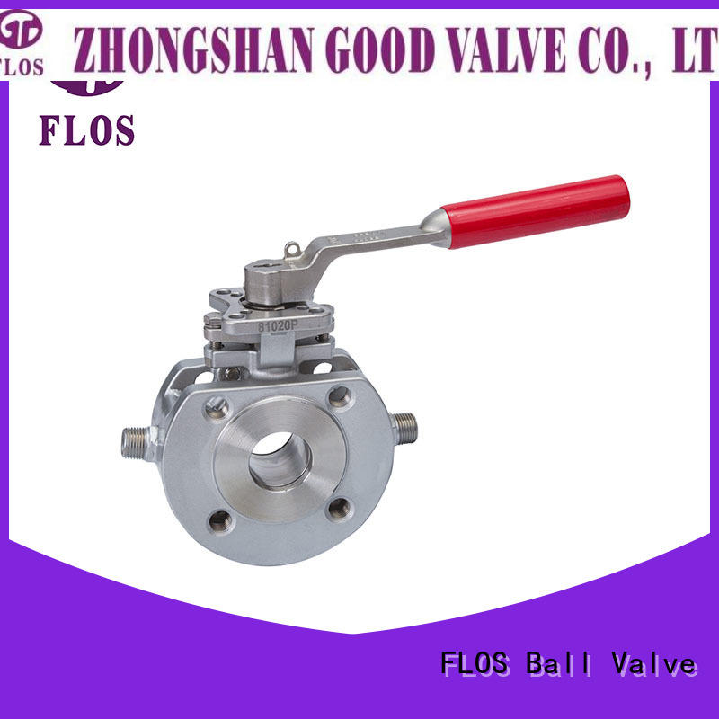FLOS ball valve company wholesale for closing piping flow