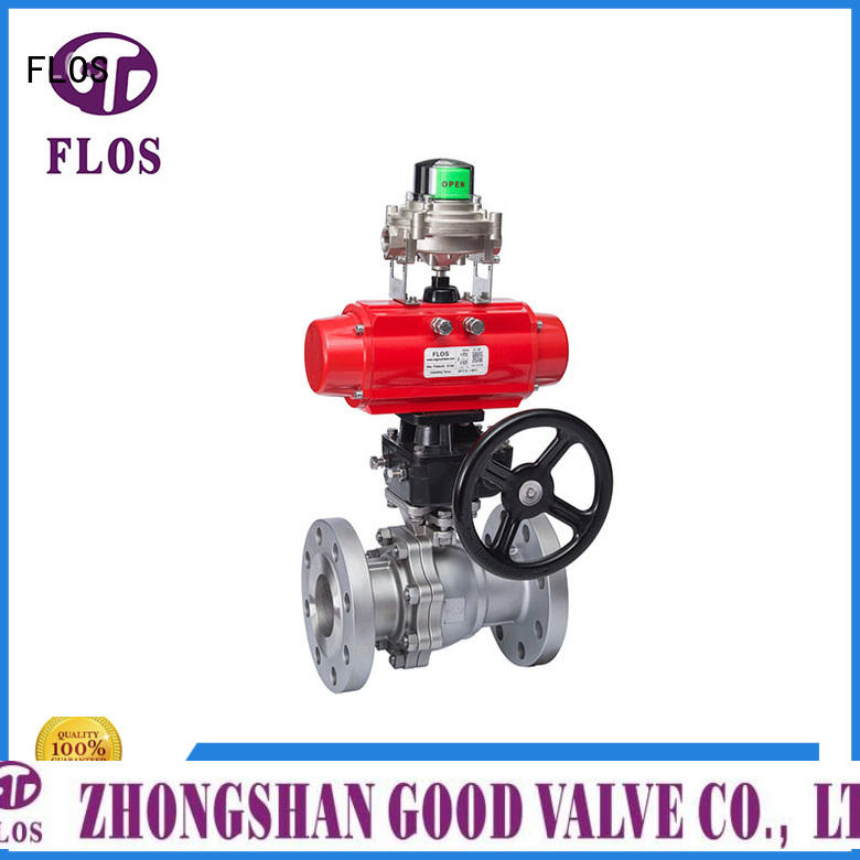 FLOS highplatform 2 piece stainless steel ball valve wholesale for opening piping flow