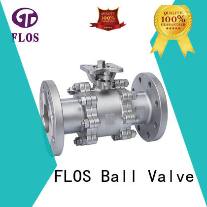 FLOS professional three piece ball valve wholesale for directing flow