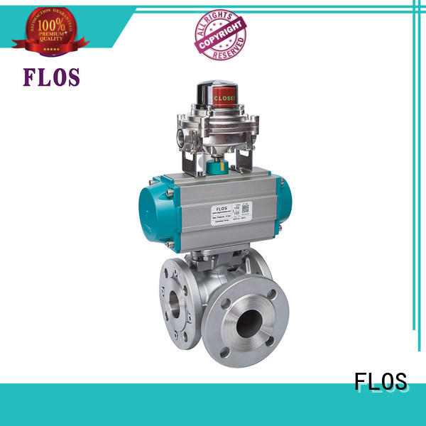 FLOS ends 3 way flanged ball valve manufacturer for opening piping flow