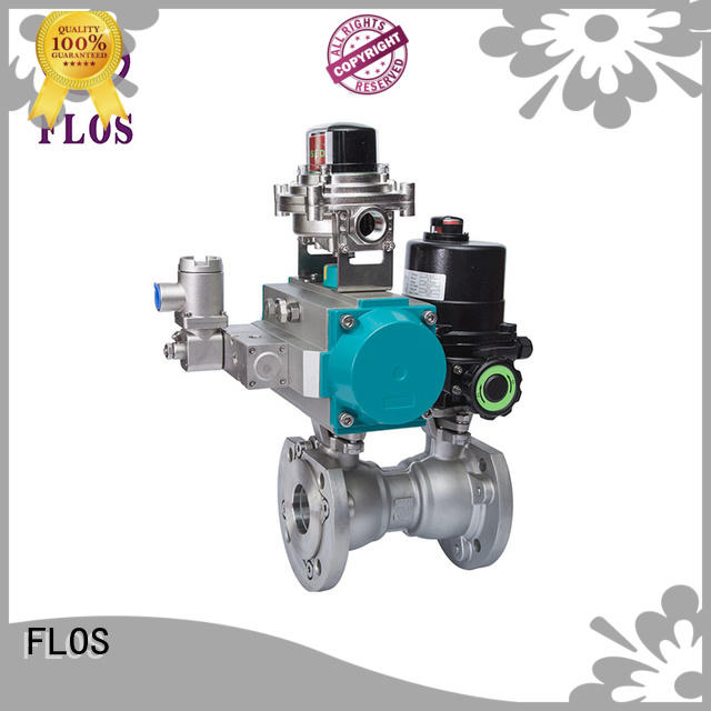 FLOS stainless single piece ball valve supplier for closing piping flow