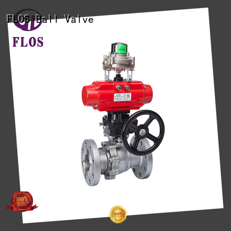 FLOS position 2-piece ball valve supplier for opening piping flow