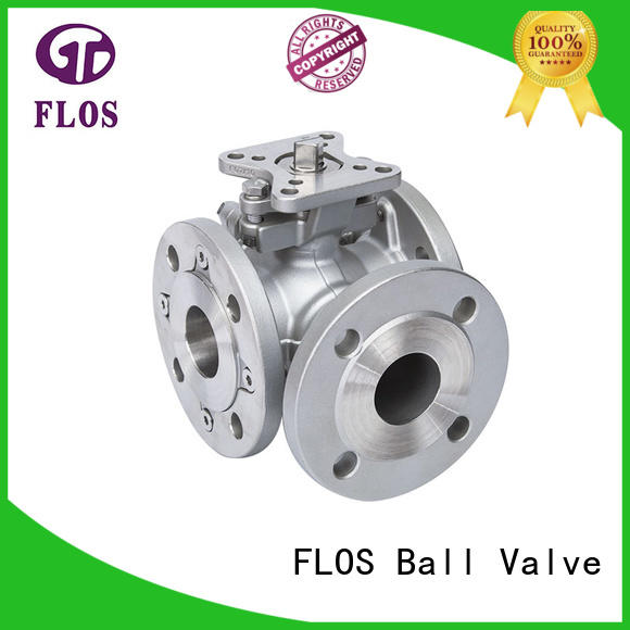 FLOS flanged 3 way valves ball valves Supply for opening piping flow