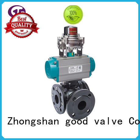 carbon steel ball valve flanged for opening piping flow FLOS
