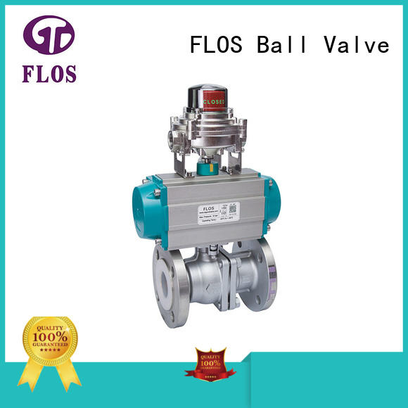 FLOS switchflanged two piece ball valve supplier for opening piping flow