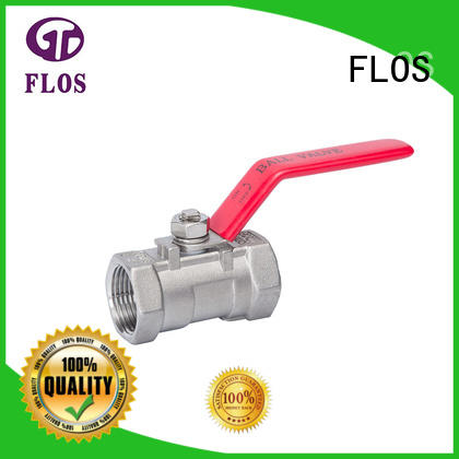 FLOS valve one piece ball valve wholesale for opening piping flow