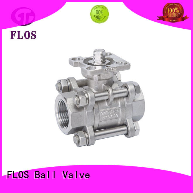 FLOS high quality 3 piece stainless steel ball valve manufacturer for closing piping flow