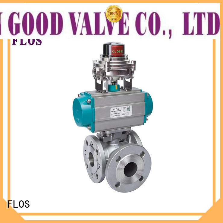 FLOS carbon three way ball valve suppliers manufacturer for opening piping flow