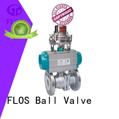 manual pneumatic actuated ball valve valvethreaded for opening piping flow FLOS