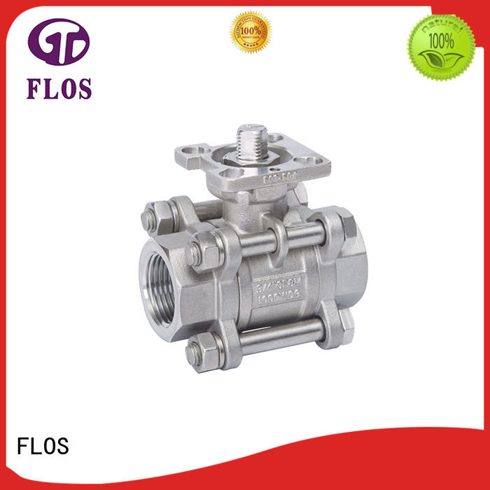 FLOS pneumaticworm three piece ball valve manufacturer for directing flow