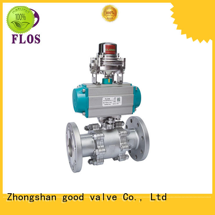 professional three piece ball valve flanged manufacturer for closing piping flow