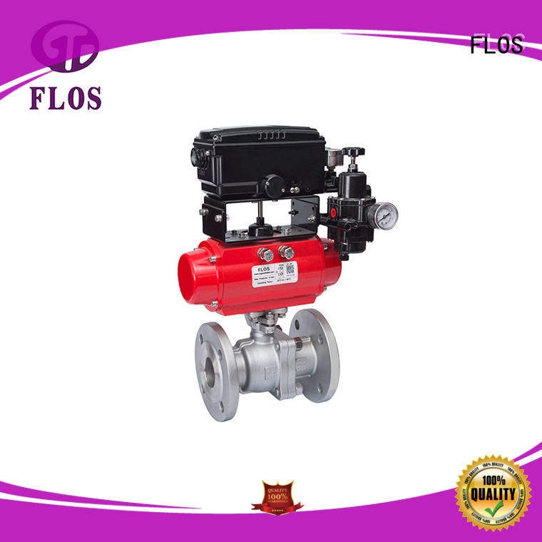 FLOS positionerflanged stainless steel valve manufacturer for opening piping flow