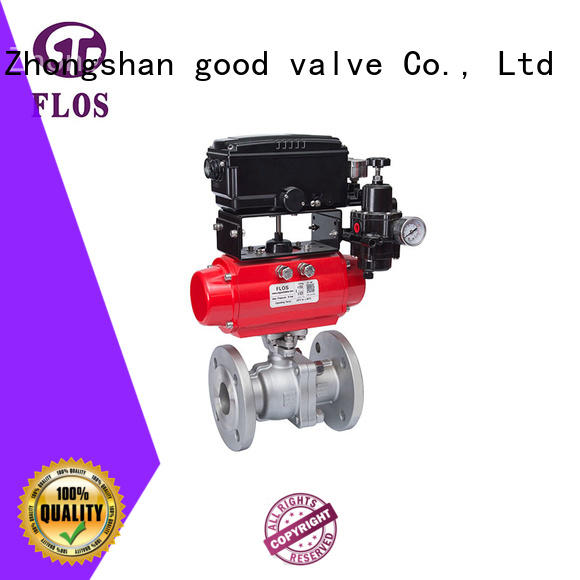FLOS switchflanged 2 piece stainless steel ball valve manufacturer for opening piping flow