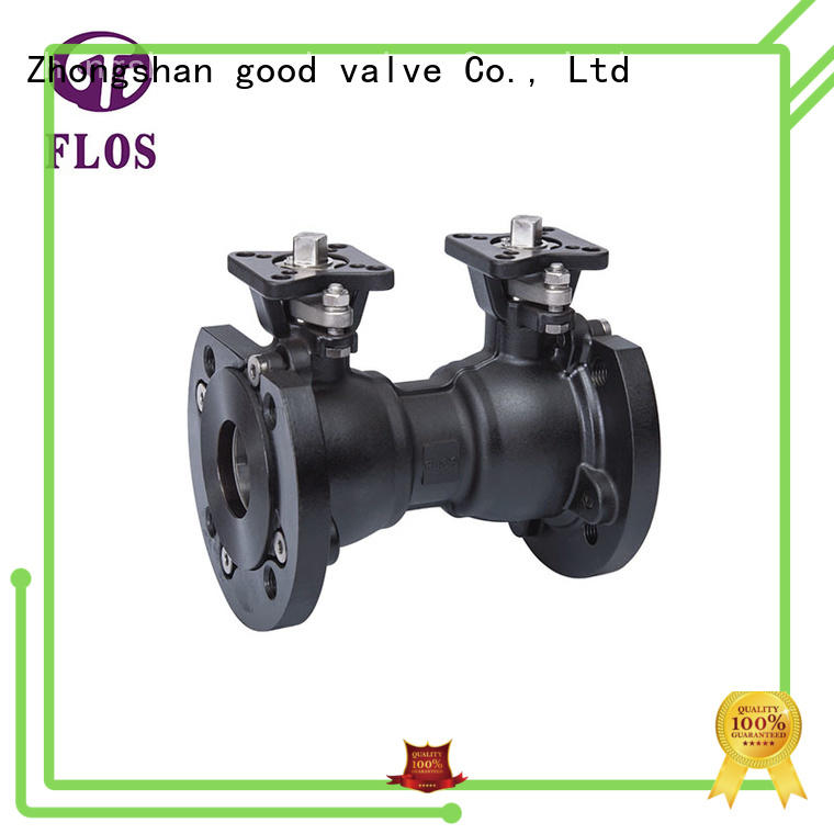 One pc carbon steel double high-platform ball valve
