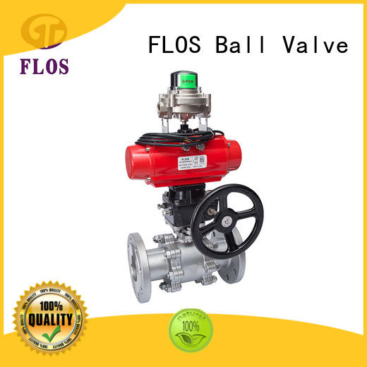 online 3-piece ball valve switchflanged supplier for closing piping flow