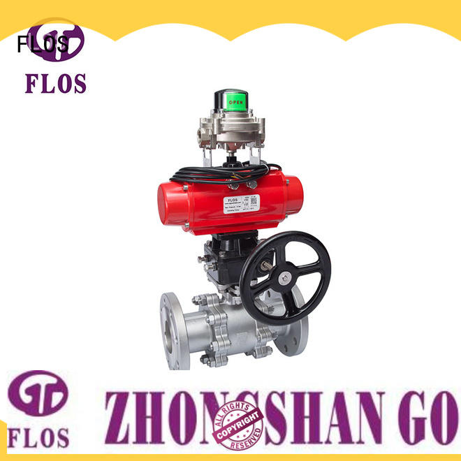 FLOS pneumaticworm 3 piece stainless steel ball valve supplier for closing piping flow