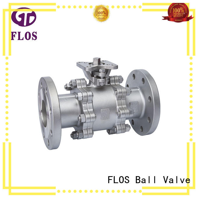 FLOS openclose three piece ball valve manufacturer for closing piping flow
