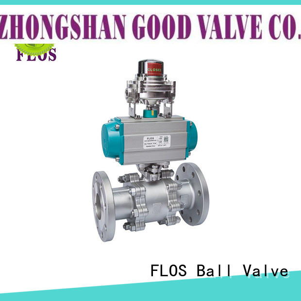 FLOS valvethreaded 3 piece stainless ball valve manufacturer for closing piping flow