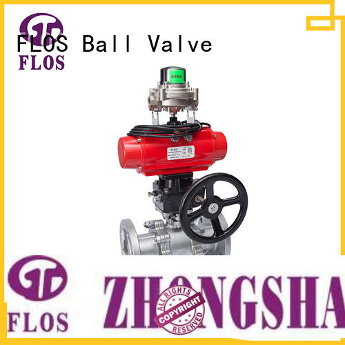 FLOS pc three piece ball valve supplier for opening piping flow