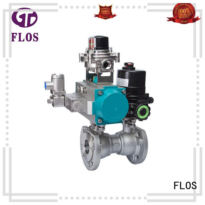 FLOS pneumatic 1 pc ball valve manufacturer for opening piping flow