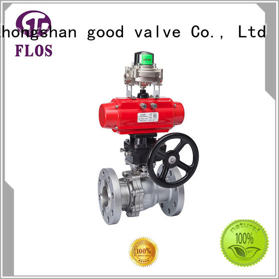FLOS ends 2 piece stainless steel ball valve manufacturer for closing piping flow