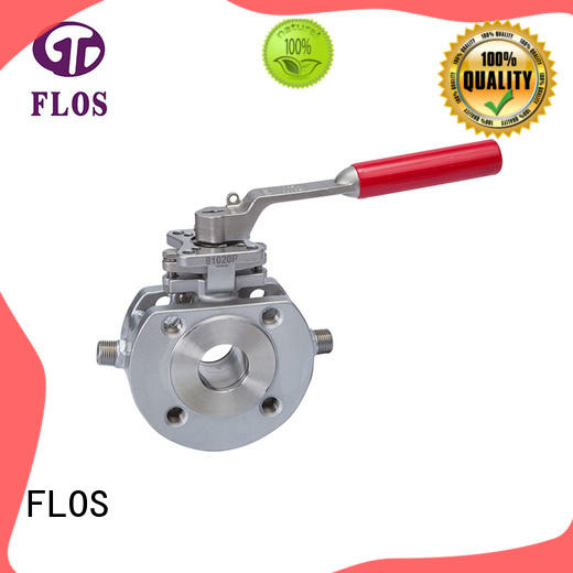 FLOS stainless 1 pc ball valve supplier for directing flow