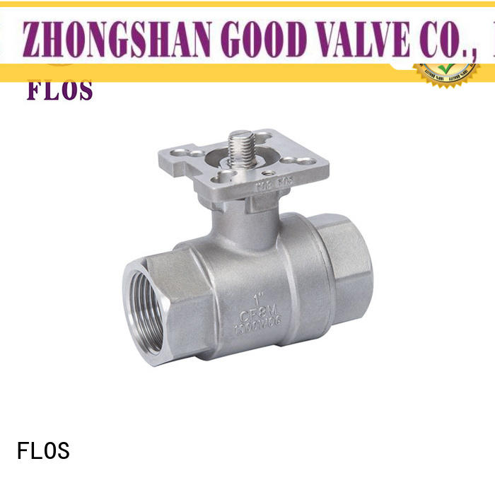 FLOS pneumaticworm stainless steel ball valve wholesale for opening piping flow