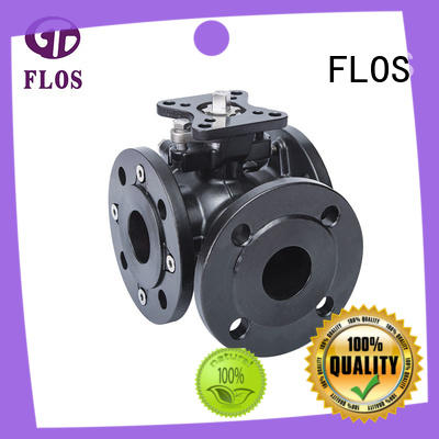 FLOS safety flanged end ball valve stainless for directing flow