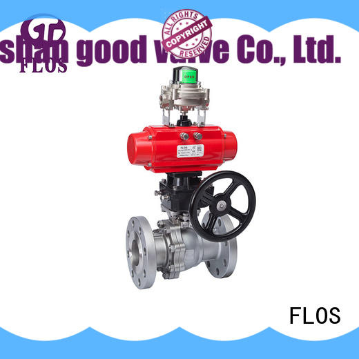 2 pc pneumatic/worm ball valve with open-close position switch, flanged ends