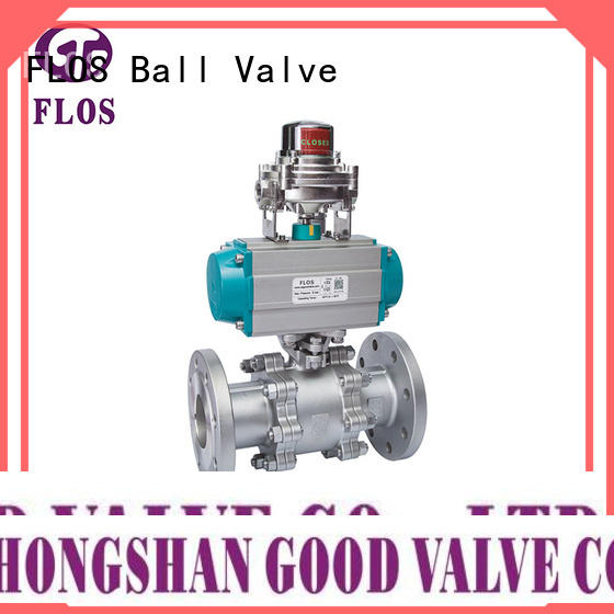 FLOS openclose 3-piece ball valve manufacturer for opening piping flow