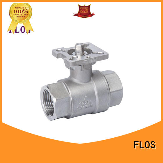FLOS positionerflanged 2-piece ball valve manufacturer for closing piping flow