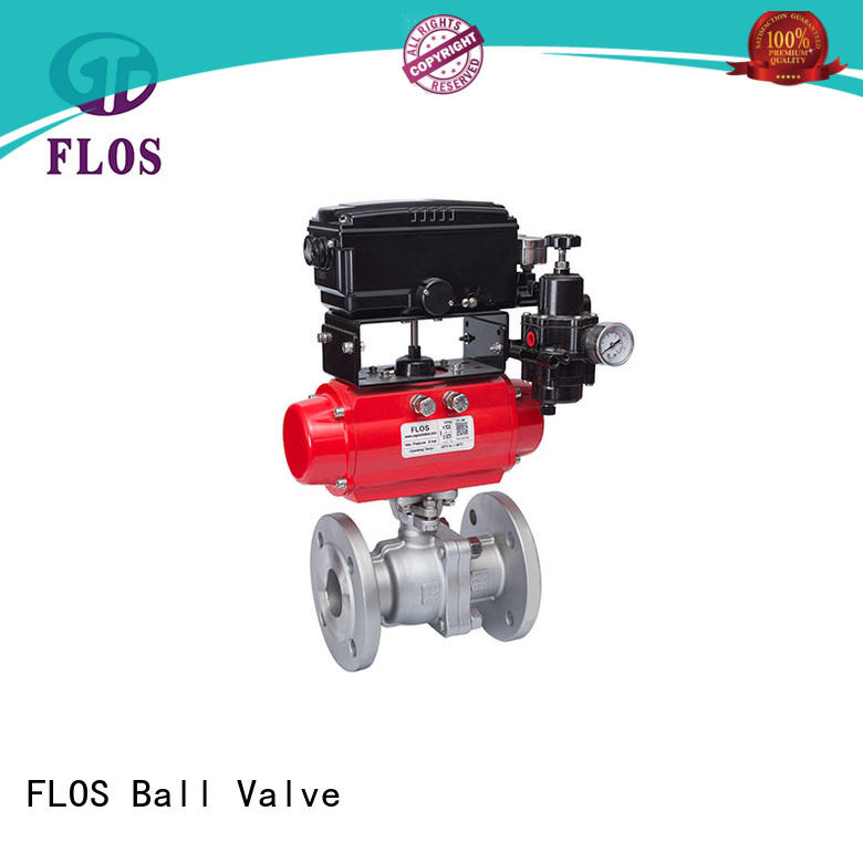 FLOS flanged two piece ball valve wholesale for directing flow