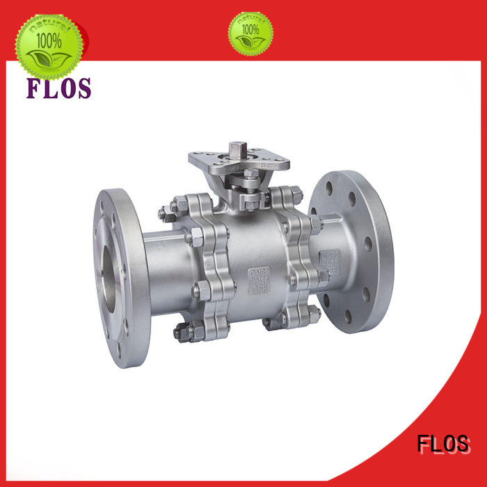 FLOS valve 3 piece stainless ball valve wholesale for directing flow