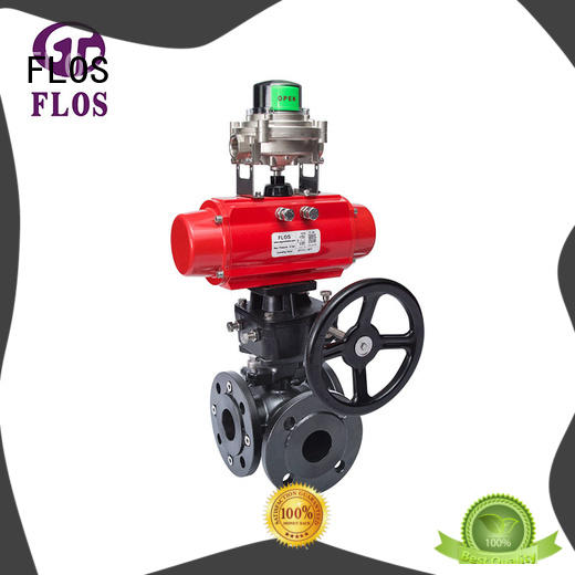 3 way pneumatic/worm carbon steel ball valve with open-close position switch,flanged ends