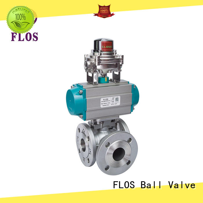 FLOS durable three way ball valve supplier for closing piping flow